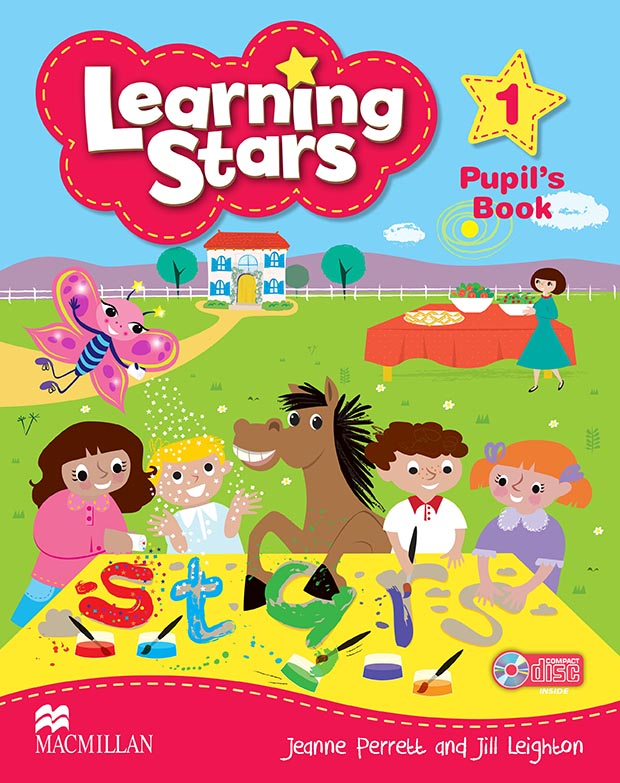 Children Education Book Cover : Pupils book learning stars